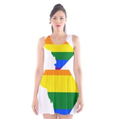 Lgbt Flag Map Of Washington, D C Scoop Neck Skater Dress