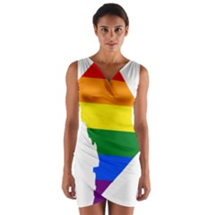 Lgbt Flag Map Of Washington, D C Wrap Front Bodycon Dress
