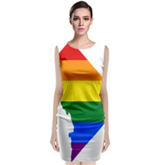 Lgbt Flag Map Of Washington, D C Classic Sleeveless Midi Dress