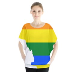 Lgbt Flag Map Of Washington, D C Blouse