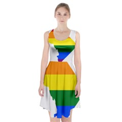 Lgbt Flag Map Of Washington, D C Racerback Midi Dress
