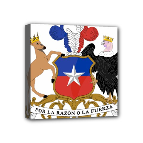 Coat Of Arms Of Chile  Mini Canvas 4  X 4