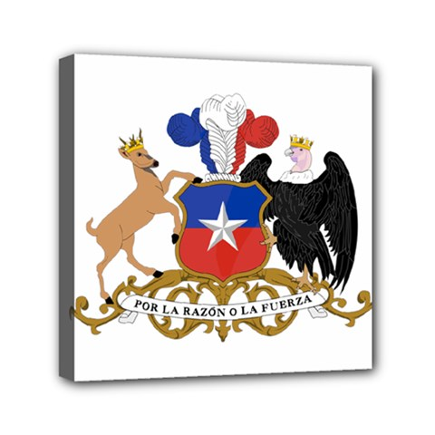 Coat Of Arms Of Chile  Mini Canvas 6  X 6