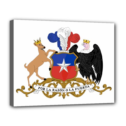 Coat Of Arms Of Chile  Canvas 14  X 11