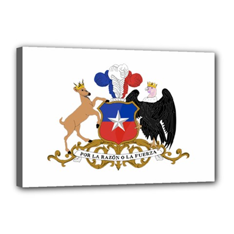 Coat Of Arms Of Chile  Canvas 18  X 12