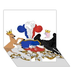 Coat Of Arms Of Chile  LOVE Bottom 3D Greeting Card (7x5)