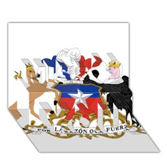 Coat Of Arms Of Chile  Miss You 3d Greeting Card (7x5)
