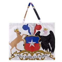 Coat Of Arms Of Chile  Zipper Large Tote Bag