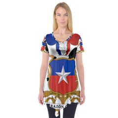 Coat Of Arms Of Chile  Short Sleeve Tunic