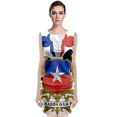 Coat Of Arms Of Chile  Classic Sleeveless Midi Dress