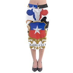 Coat Of Arms Of Chile  Midi Pencil Skirt