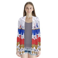 Coat Of Arms Of Chile  Drape Collar Cardigan