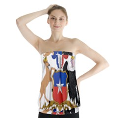 Coat Of Arms Of Chile  Strapless Top