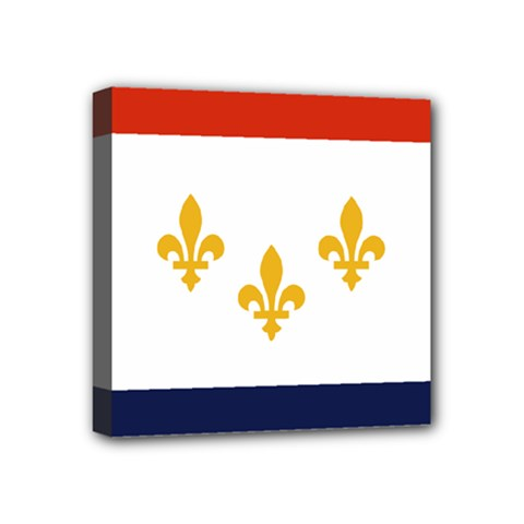 Flag Of New Orleans  Mini Canvas 4  X 4