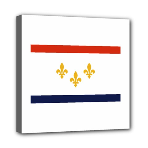 Flag Of New Orleans  Mini Canvas 8  x 8