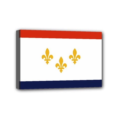 Flag Of New Orleans  Mini Canvas 6  X 4