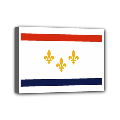 Flag Of New Orleans  Mini Canvas 7  X 5