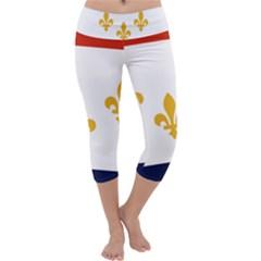 Flag Of New Orleans  Capri Yoga Leggings