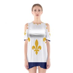 Flag Of New Orleans  Cutout Shoulder Dress