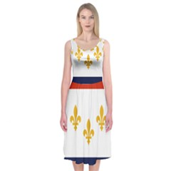 Flag Of New Orleans  Midi Sleeveless Dress