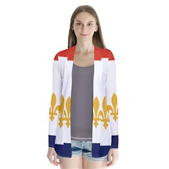 Flag Of New Orleans  Drape Collar Cardigan