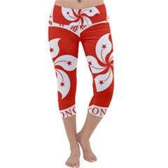 Emblem Of Hong Kong  Capri Yoga Leggings