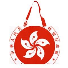 Emblem Of Hong Kong  Large Tote Bag