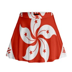 Emblem Of Hong Kong  Mini Flare Skirt
