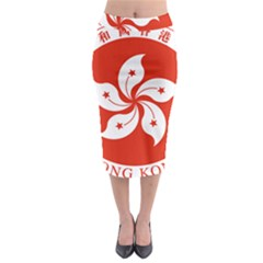 Emblem Of Hong Kong  Midi Pencil Skirt