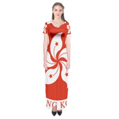 Emblem Of Hong Kong  Short Sleeve Maxi Dress