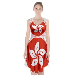Emblem Of Hong Kong  Racerback Midi Dress