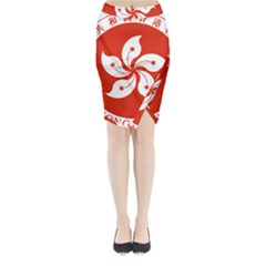 Emblem Of Hong Kong  Midi Wrap Pencil Skirt
