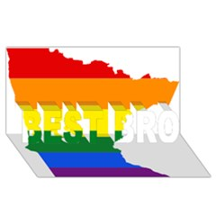 Lgbt Flag Map Of Minnesota  BEST BRO 3D Greeting Card (8x4)