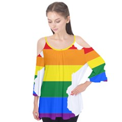 Lgbt Flag Map Of Minnesota  Flutter Tees