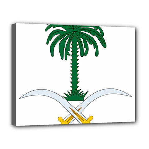 Emblem Of Saudi Arabia  Canvas 14  X 11
