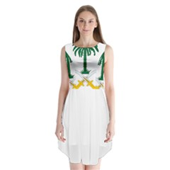 Emblem Of Saudi Arabia  Sleeveless Chiffon Dress