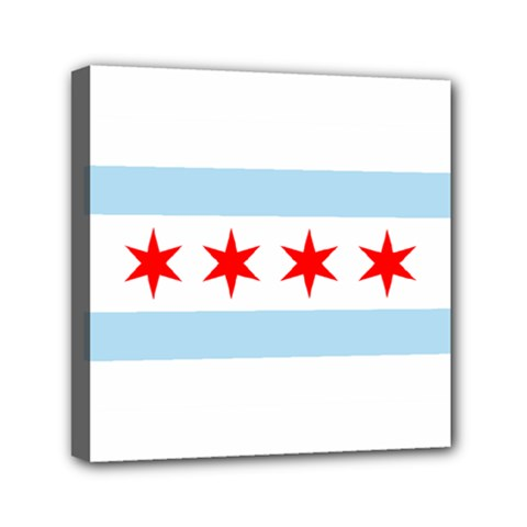 Flag Of Chicago Mini Canvas 6  X 6