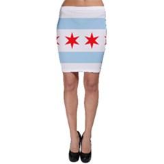 Flag Of Chicago Bodycon Skirt