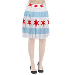 Flag Of Chicago Pleated Skirt