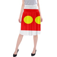 Flag Of Freetown Christiania Midi Beach Skirt