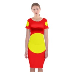 Flag Of Freetown Christiania Classic Short Sleeve Midi Dress