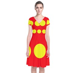 Flag Of Freetown Christiania Short Sleeve Front Wrap Dress