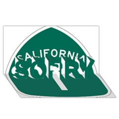 California 1 State Highway   Pch Sorry 3d Greeting Card (8x4)
