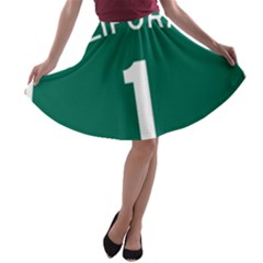 California 1 State Highway   Pch A-line Skater Skirt