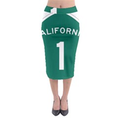 California 1 State Highway   Pch Midi Pencil Skirt