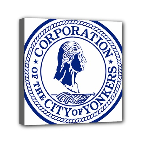 Seal Of Yonkers, New York  Mini Canvas 6  X 6