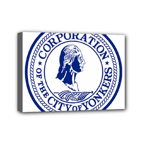 Seal Of Yonkers, New York  Mini Canvas 7  X 5