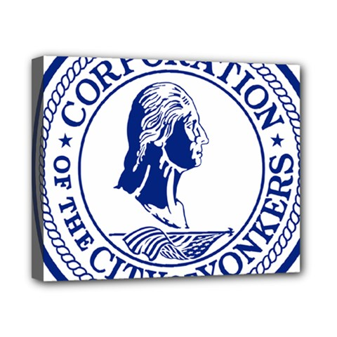 Seal Of Yonkers, New York  Canvas 10  X 8