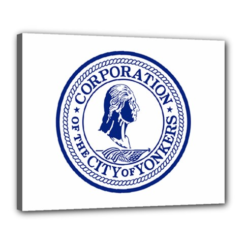 Seal Of Yonkers, New York  Canvas 20  X 16