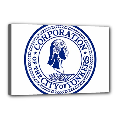 Seal Of Yonkers, New York  Canvas 18  X 12